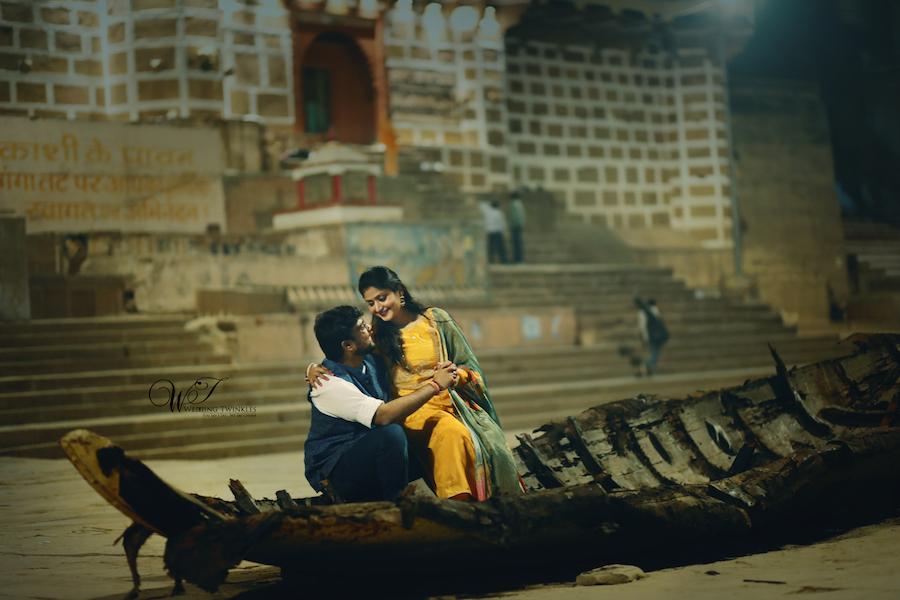 best indian pre wedding photoshoot Varanasi banaras