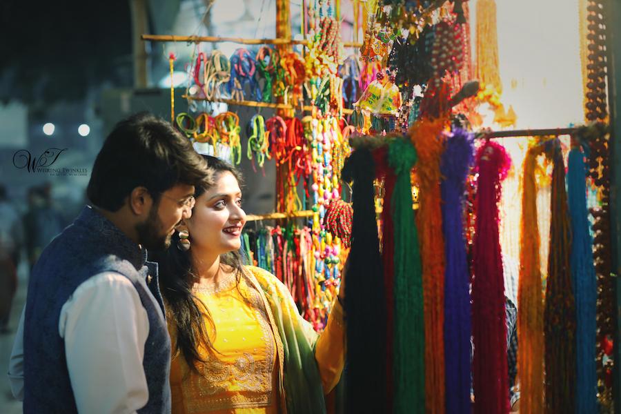Banaras market pre wedding photoshoot