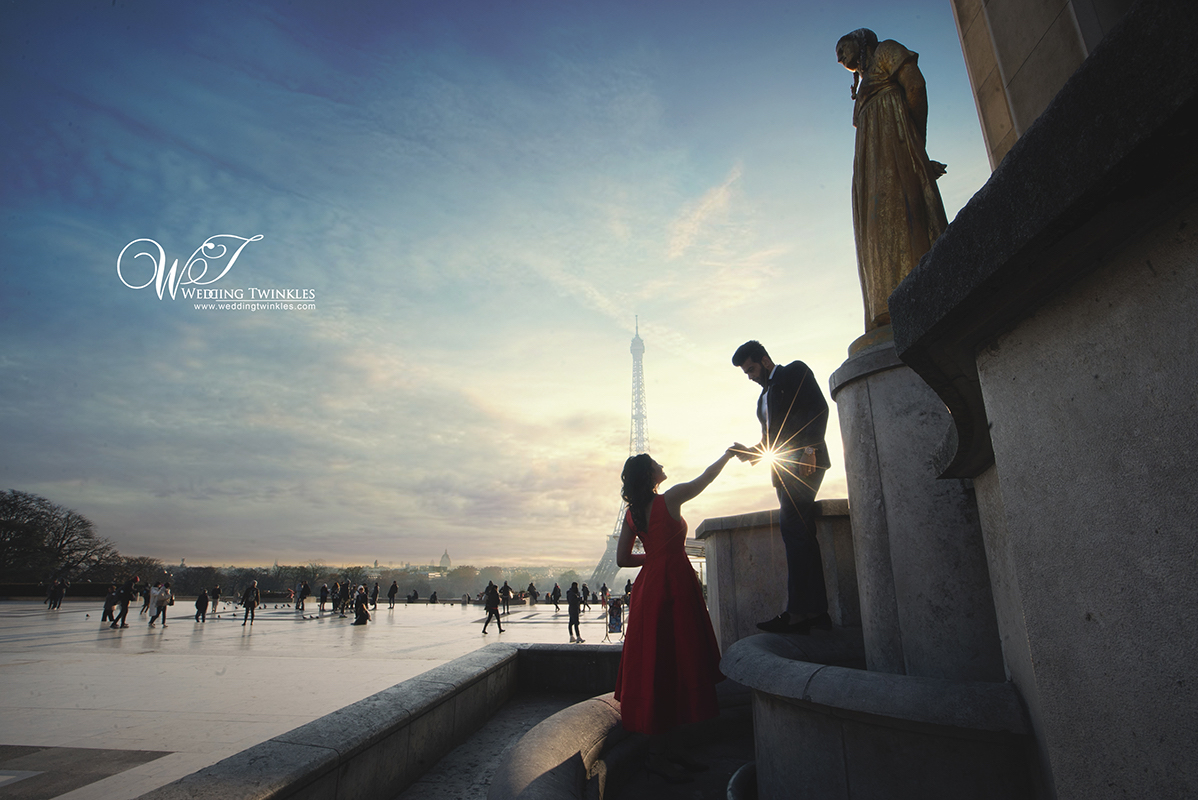 Prewedding Photography in Paris for Neharika and Lakshit