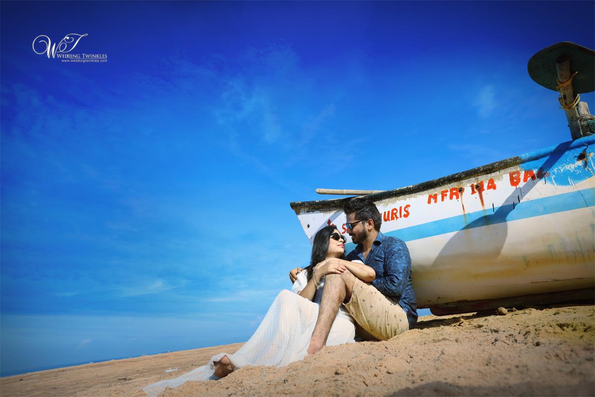 goa beach pre wedding shoot